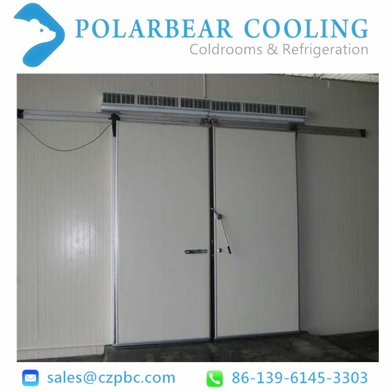 Walk in cold room manual sliding door for coolroom